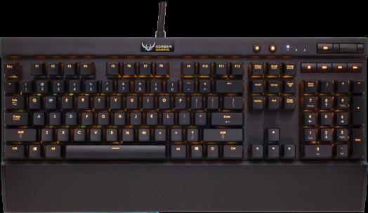 De K70 RGB is een full-size toetsenbord, zonder G-toetsen.
