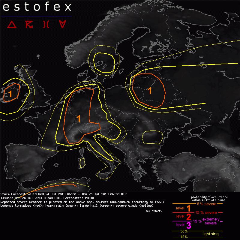 http://www.estofex.org/cgi-bin/polygon/showforecast.cgi?lightningmap=yes&fcstfile=2013072506_201307240640_1_stormforecast.xml