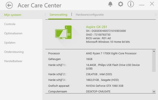 Acer Aspire GX-281 A7XRX580 NL - Dutchiee - Userreviews