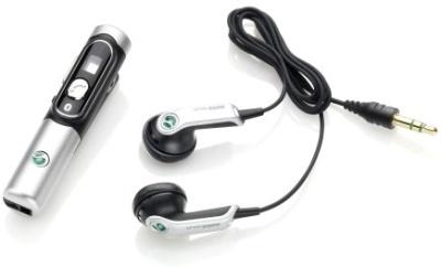 De Sony Ericsson HBH-DS200 en bijgeleverde oortjes