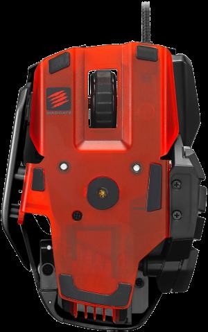 De transparant rode onderkant van de MMO TE.